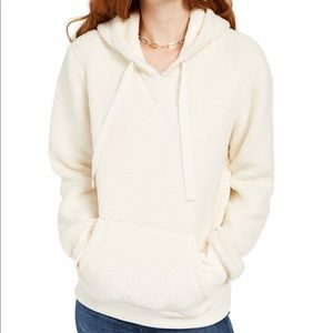 Hippie Rose Sherpa Hoodie Size Small